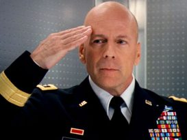 Bruce Willis in military uniform