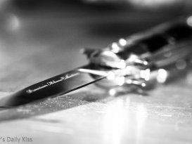 Macro shot of knife blade