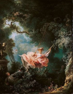 The Swing (L'Escarpolette) by Jean-Honoré Fragonard (1767)