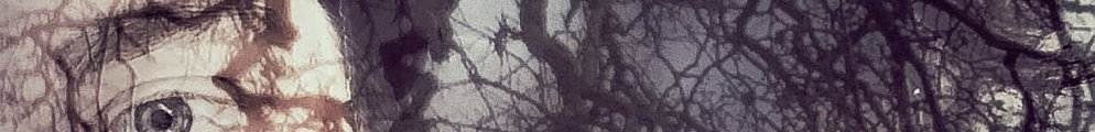 Cropped image if molly's face where her hair is trees