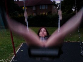 molly on the swings with no knickers for post about swingers