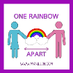One rainbow apart blog badge