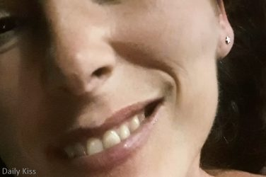 Molly's smiling face indulged in cum