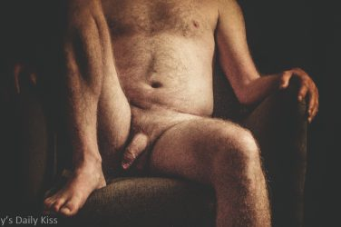 Cropped image of male nude