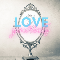Love yourself blog badge