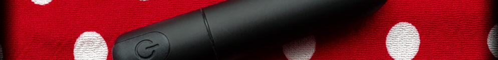 Sohimi bullet vibrator on red polkadot background