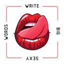 write big sexy words blog badge